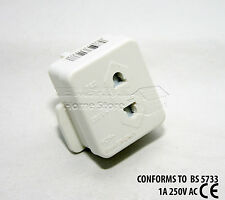 Electric Shaver Razor Adaptor UK 1A Plug FUSED Visitor Socket Converter 237C
