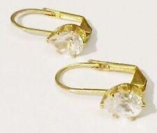 boucles d'oreilles percées bijou vintage coul or dormeuse cristal diamant * 4053
