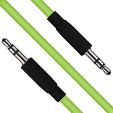 Verde 3.5mm estéreo jack a Audio Cable auxiliar para Auriculares Sonido