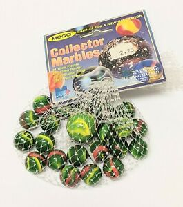 Vintage Collector Mega Marbles 100% pure glass (24 16mm/ 1 25mm shooter)
