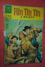 RINTINTIN E RUSTY -N°35- DA L.100- SERIE TV- DEL 1963 -ED.CENISIO- (rin tin tin)
