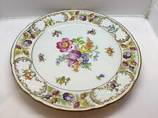 """Beautiful Vintage Schumann EMPRESS Dresden Flowers Salad Plate 7-3/4"""""""
