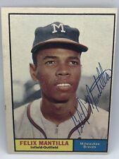 2020 Historic Autographs Felix Mantilla Braves 1961 Topps Auto Sticker Authentic