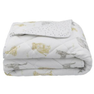 Living Textiles Jersey Cot Comforter Savanna Babies/Dots