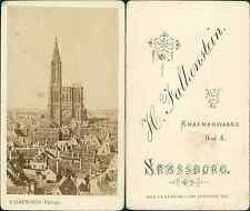 Falkenstein, Strasbourg, Cathédrale Notre-Dame Vintage CDV albumen carte de visi