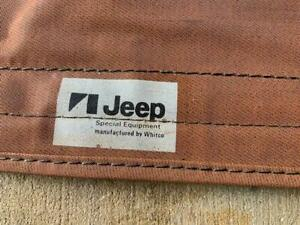 OEM Jeep Factory CJ7 CJ-7 Whitco Nutmeg Tan Soft Top Laredo Renegade