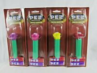 PEZ Psychedelic Flowers Blue Eye Green Stem Version B No Feet Set of 4 Hungary