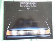 Mercury Sable brochure 1986 USA market