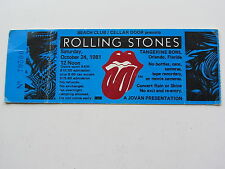 THE ROLLING STONES TICKET 24TH OCTOBER 1981 , TANGERINE BOWL, ORLANDO, U.S.A.