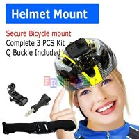 Bicycle Helmet Front Strap Mount J-Hook Buckle for Gopro Hero 6/5/4/3/3+/2