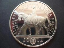 2002 PROOF MONETA £ 5 (CORONA) LE REGINE GIUBILEO D'ORO 2002 Cinque sterline monete.