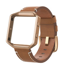 Fitbit Blaze Small Replacement Band Leather With Stainless Steel Frame Wristband