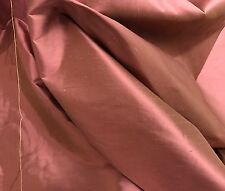 "ROSE PINK GREEN 2TONE 100% SILK DUPIONI FABRIC 54"" WIDE 1 YARD"