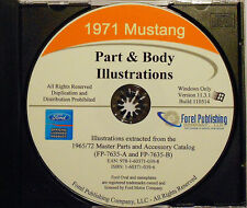 1971 Mustang Part and Body Illustrations (CD-ROM)
