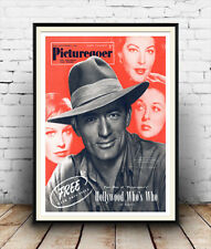 Picture goer JGregory Peck : Old 1953 Film Magazine cover  poster reproduction.