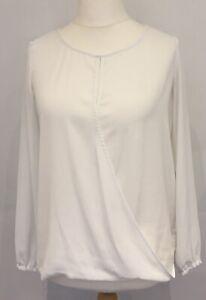 Banana Republic Ladies White Draped Shirt, Size M (12-14)
