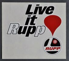 "Rare Vintage ""LIVE IT UP RUPP"" Unique Snowmobile Decal/Sticker"