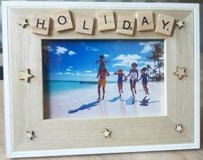WOODEN PHOTO FRAME - HOLIDAY-Home Decor, Birthday Gift,Scrabble