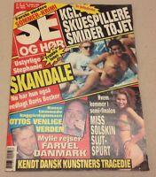"""Princess Stephanie Monaco Boris Becker Vtg Danish Magazine 1990 """"Se og Hoer"""""""