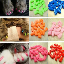 New 20pcs Soft Cat Pet Nail Caps Claw Control Paws off +Adhesive GluYjus