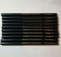 Patriotic Helpmate Pencils 80 Faber Castell New Unsharpened Black Artist Lot 10