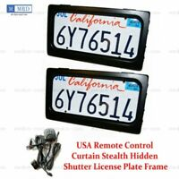 USA Device Stealth Curtain Cover Shutter License Plate Hide Away Remotes 2 Plate