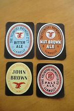 FOUR DIFFERENT FELINFOEL BREWERY LLANELLY WALES PAPER BOTTLE LABELS