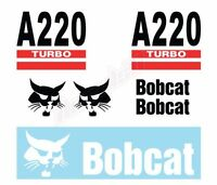 Bobcat A220 Skid Steer Set Vinyl Decal Sticker - FREE SHIPPING