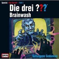 """DIE DREI ??? """"BRAINWASH- GEFANGENE GEDANKEN"""" CD NEU"""