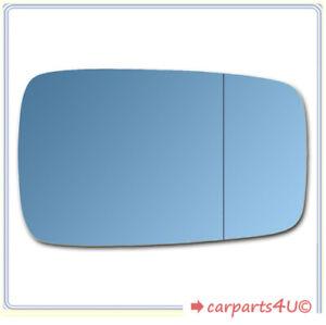 Spiegelglas zum Kleben für AUDI 80 1986-1996 rechts asphärisch blau