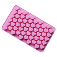 1PC Mini 55 Heart Silicone Mold For Candy Chocolate Cake Soap Mould Baking E6Z5