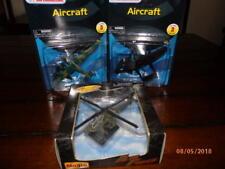 Three Maisto Models , P-61 Ww2 Black Widow, B24d liberator, Ah6 Apache