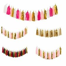 18-20Pcs Tissue Tassels Paper Garland Bunting Wedding Party Balloon Xmas Decor