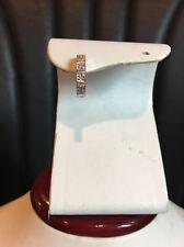 14k White Gold Single Hoop Earring With Genuine Diamonds Huggies