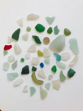 45 Genuinequirky Welsh Sea Glass pieces, Coastal Craft Art Jewelry Beach