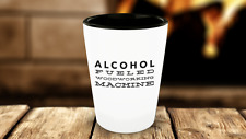 Alcohol Fueled Woodworking Machine Funny Shot Glass