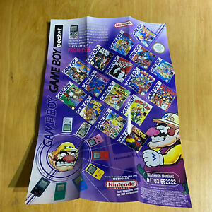 2 x Nintendo GAMEBOY Pocket + N64 Nintendo Poster - Mario Wario Kirby Star Wars