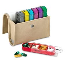 MEDca Weekly Travel Pill Box Case Organizer Medication Wallet 4 Times 7 Day