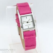 NINE WEST LADIES WATCH PINK LEATHER BAND NEW