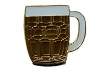 Beer Lapel Pin Badge | Pint of Beer | Lager Booze Glass Jar