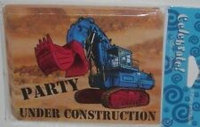 BIRTHDAY PARTY INVITATIONS KID CHILDREN UNDER CONSTRUCTION 8 SET CMY OTHER ITEMS