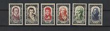 FRANCE 1950 célébrités du XVIIIe siècle complète de 6 timbres neufs  /T1818