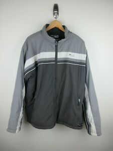 Fila Puffer Jacket Mens Size XL Insulated Grey Full Zip Heavy Weight 91175