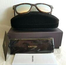 47288342dd4 Tom Ford TF 436 56G Tracy Havana Plastic Square Sunglasses w Pink Mirror  Lens FS