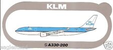 Baggage Label - KLM - A330 300 - Airbus - Air France at Nose - Sticker (BL500)