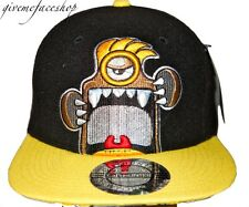 EXCLUSIVE MONSTER CARTOON SNAPBACK CAPS, FLAT PEAK BASEBALL FITTED HATS, RETRO
