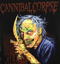 CANNIBAL CORPSE T- SHIRT SHORT SLEEVE PRINTED ON FRONT AND BACK REAPER STYLE BLK