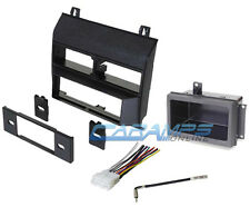 NEW BLACK CAR TRUCK STEREO RADIO KIT DASH INSTALLATION TRIM W/ WIRING & HARNESS