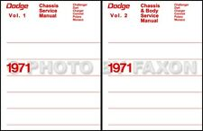 1971 Dodge Shop Manual Set Challenger Charger Dart Demon Swinger Repair Service