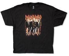 "DEF LEPPARD ""ROCK OF AGES TOUR 2012"" BLACK T-SHIRT NEW OFFICIAL ADULT LARGE L"